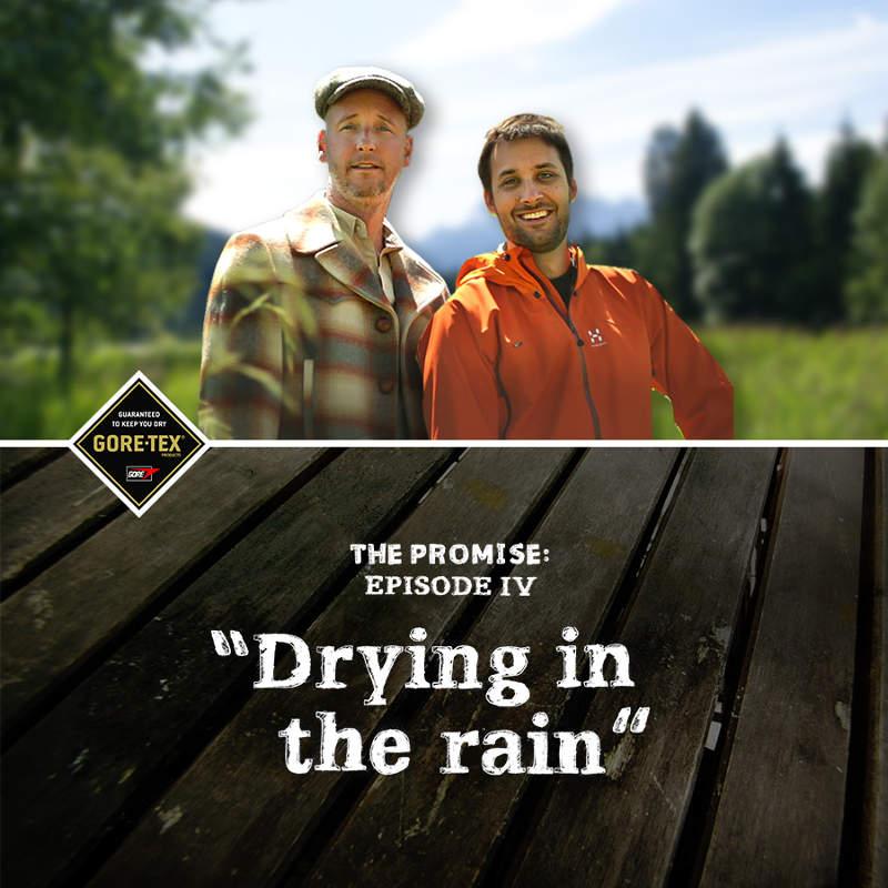 GORE-TEX DRYING IN THE RAIN